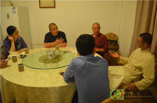 2017年10月17日,傅昌先生、刘小炮先生、甘信超先生一行会谈,第十届素食营销论坛预热