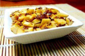 【素食菜谱】家常素菜谱之芽菜炒杏鲍菇