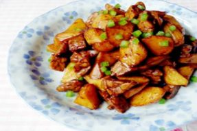 【素食菜谱】家常素菜谱之天贝焖茭白