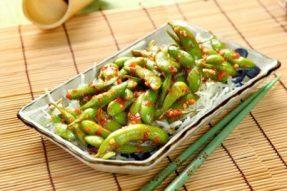 【素食菜谱】当令素食菜谱之辣炒毛豆