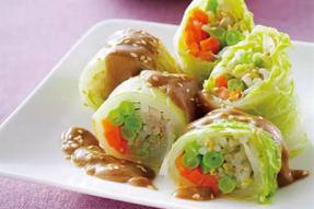 【素食菜谱】特色素食菜品之白菜芝麻卷