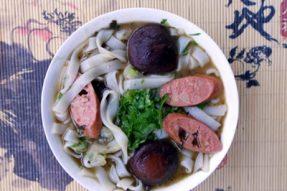 每日一素:操作简单的美味素食–香菇素腊肠米——广州素食学校