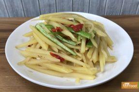 酸辣涼拌土豆絲——广州素食学校