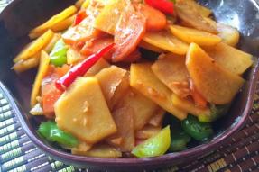 【素食菜谱】鲜香土豆片|素食常规食材