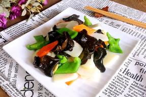 【素食菜谱】黑木耳炒山药